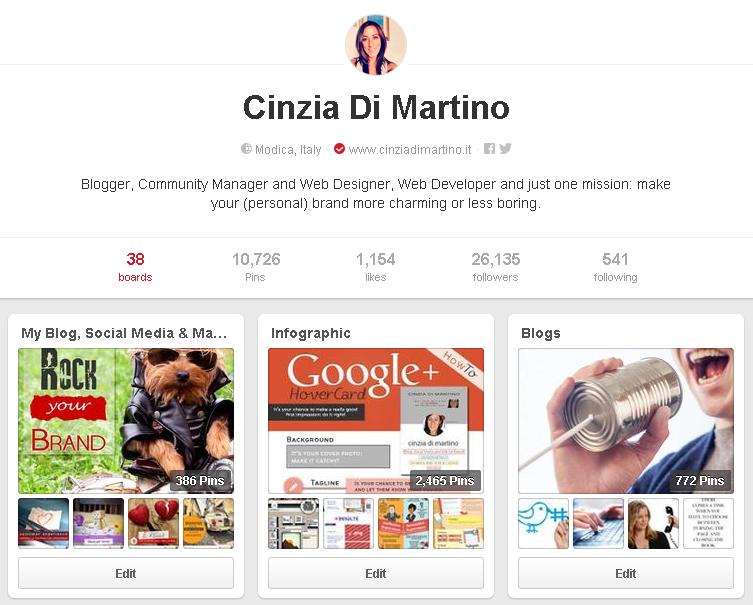 Il mio profilo su Pinterest | http://www.pinterest.com/cinziadm/
